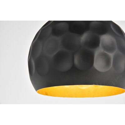 Reinhold 1-Light Mini Pendant in Matte Black