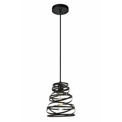 Reinke 1-Light Mini Pendant Size: 9.2 H x 7.5 W x 7.5 D