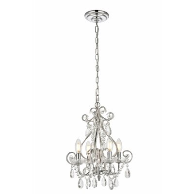 Burcott 4-Light Mini Chandelier Finish: Chrome