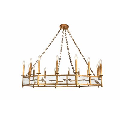 West Side 16-Light Candle-Style Chandelier Finish: Golden