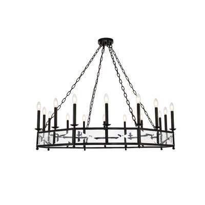 West Side 16-Light Candle-Style Chandelier Finish: Vintage Bronze