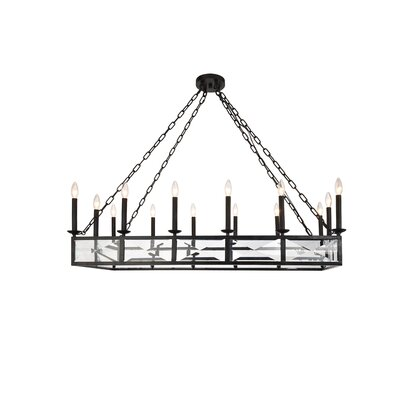West Side 14-Light Candle-Style Chandelier Finish: Vintage Bronze