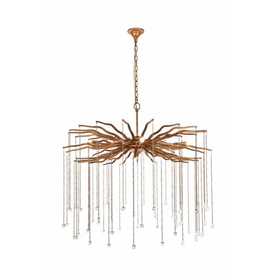Delesha 6-Light Candle-Style Chandelier Finish: Antique Gold
