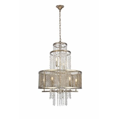 West Vero 8-Light Drum Chandelier Finish: Antique Silver, Size: 97.5 H x 24 W x 24 D