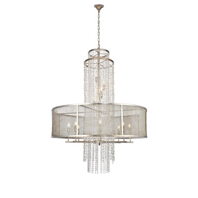 West Vero 12-Light Drum Chandelier Finish: Antique Silver