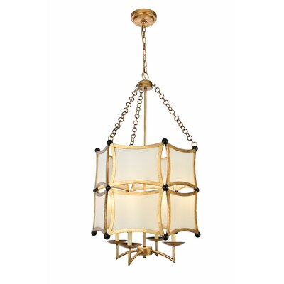 Sterner 4-Light Drum Chandelier Finish: Golden/Black