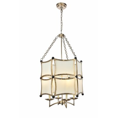 Sterner 4-Light Drum Chandelier Finish: Antique Silver/Black