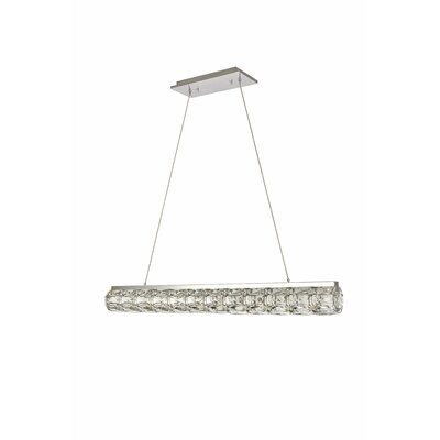Ultan LED Kitchen Island Pendant Size: 80 H x 36.6 W x 3.9 D