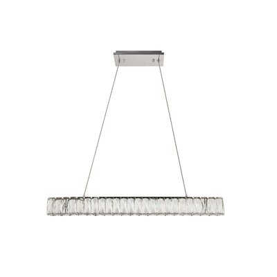 Anessa Traditional LED Kitchen Island Pendant Size: 80 H x 31.1 W x 1.6 D