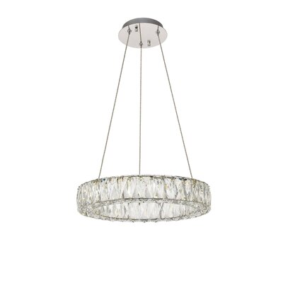 Anessa LED Kitchen Island Pendant Size: 80 H x 17 W x 17 D
