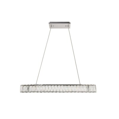Anessa LED Kitchen Island Pendant Size: 80 H x 31.5 W x 31.5 D