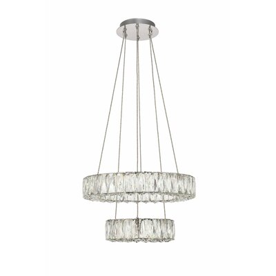 Anessa Metal LED Crystal Pendant Size: 80 H x 17.7 W x 17.7 D