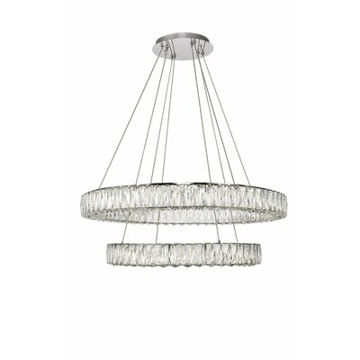Anessa Metal LED Crystal Pendant Size: 80 H x 31.5 W x 31.5 D