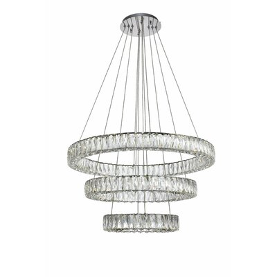 Anessa Glass LED Crystal Pendant