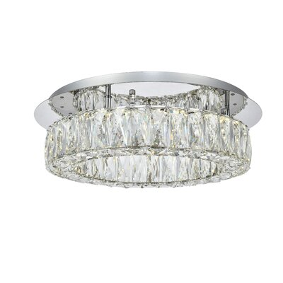 Anessa Antik LED Semi Flush Mount Size: 5.1 H x 17.7 W x 17.7 D