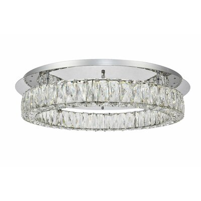 Anessa Antik LED Semi Flush Mount Size: 5.1 H x 25.6 W x 25.6 D