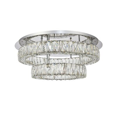 Anessa LED Semi Flush Mount Size: 10 H x 25.6 W x 25.6 D