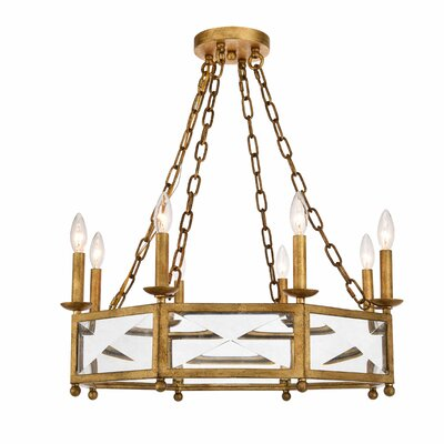 West Side 8-Light Candle-Style Chandelier Finish: Golden