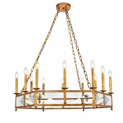 West Side 12-Light Candle-Style Chandelier Finish: Golden
