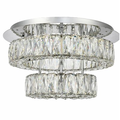 Anessa LED Semi Flush Mount Size: 10 H x 17.7 W x 17.7 D