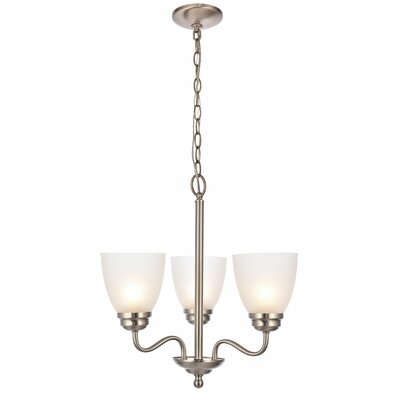 Hampton 3-Light Candle-Style Chandelier Finish: Brushed Nickel
