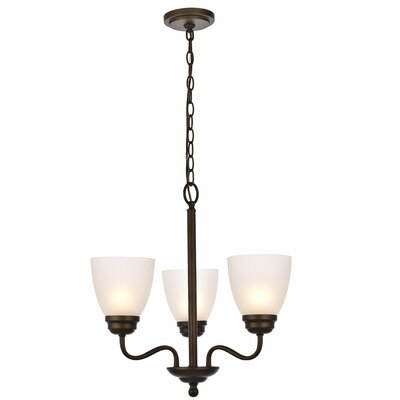 Hampton 3-Light Candle-Style Chandelier Finish: Oil Rubbed Bronze