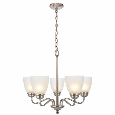 Hampton 5-Light Candle-Style Chandelier Finish: Brushed Nickel