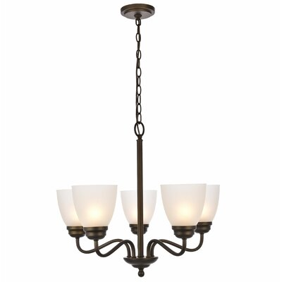 Hampton 5-Light Candle-Style Chandelier Finish: Oil Rubbed Bronze