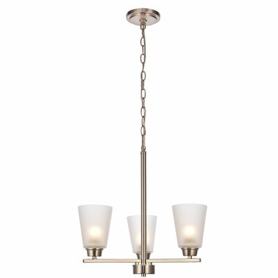 Alderete 3-Light Candle-Style Chandelier Finish: Brushed Nickel