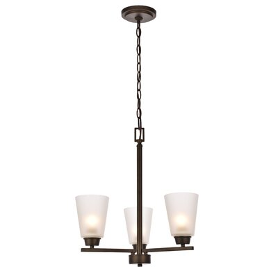 Alderete 3-Light Candle-Style Chandelier Finish: Oil Rubbed Bronze