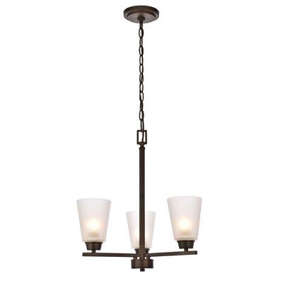 Alderete 3-Light Candle-Style Chandelier Finish: Oil Rubbed Bronze