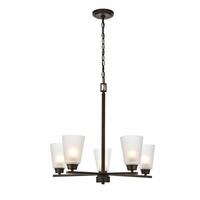 Alderete 5-Light Candle-Style Chandelier Finish: Oil Rubbed Bronze