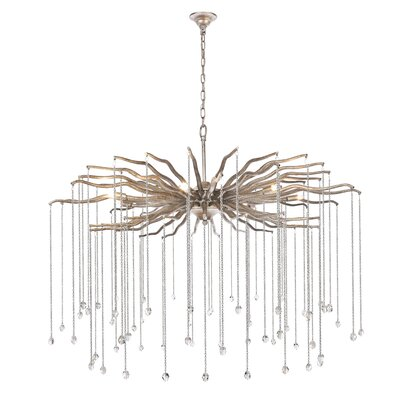 Delesha 7-Light Candle-Style Chandelier Finish: Drizzled Antique Silver