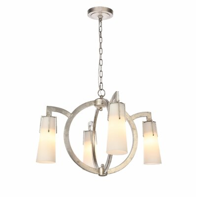 Sterns 4-Light Candle-Style Chandelier Finish: Antique Silver