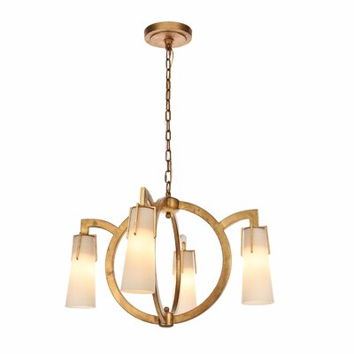 Sterns 4-Light Candle-Style Chandelier Finish: Golden