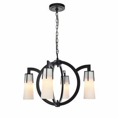 Sterns 4-Light Candle-Style Chandelier Finish: Vintage Bronze