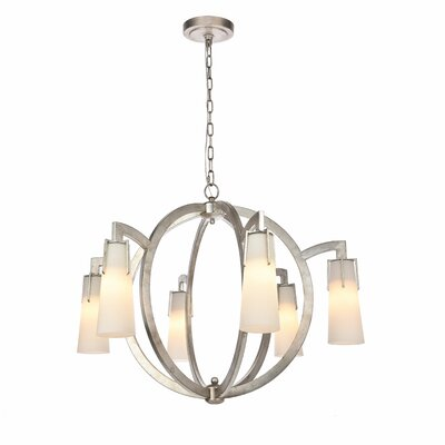 Sterns 6-Light Candle-Style Chandelier Finish: Antique Silver