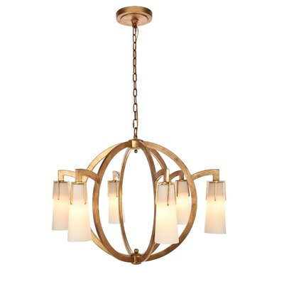 Sterns 6-Light Candle-Style Chandelier Finish: Golden