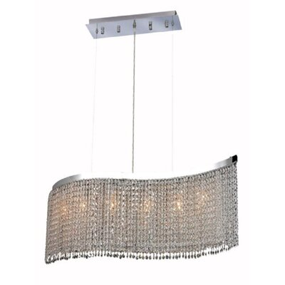 Moda 5-Light Pendant Crystal Color / Crystal Trim: Crystal (Clear) / Elegant Cut