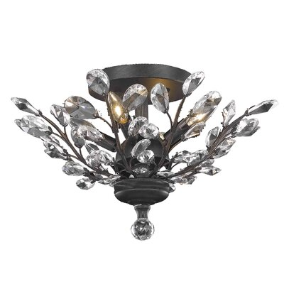 Gila 4-Light Semi Flush Mount Crystal Grade: Elegant Cut