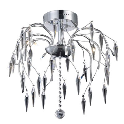 Pressler 8-Light Semi Flush Mount Crystal Grade: Elegant Cut