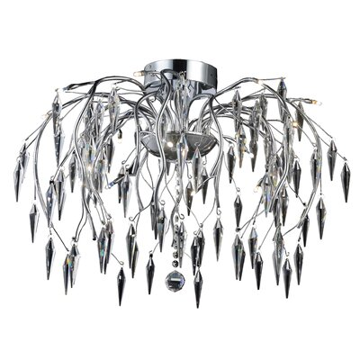 Pressler 16-Light Semi Flush Mount Crystal Grade: Elegant Cut