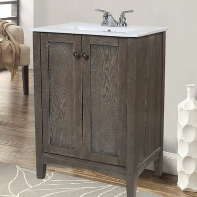 Miltonsburg 24 Single Bathroom Vanity Set Base Finish: Weathered Oak