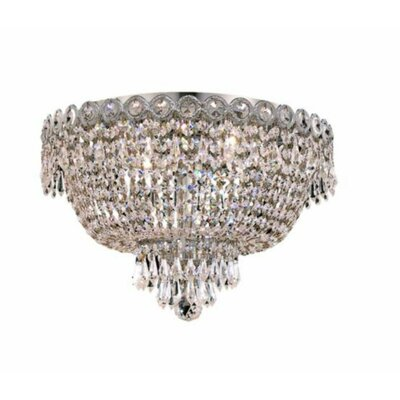 Century 4-Light 16 Flush Mount Finish: Chrome, Crystal Grade: Spectra Swarovski