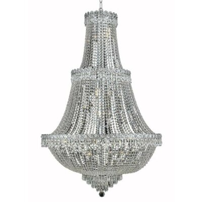 Century 17-Light Crystal Chandelier Finish: Chrome, Crystal Trim: Royal Cut