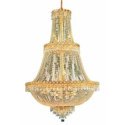 Century 17-Light Crystal Chandelier Finish: Gold, Crystal Trim: Royal Cut