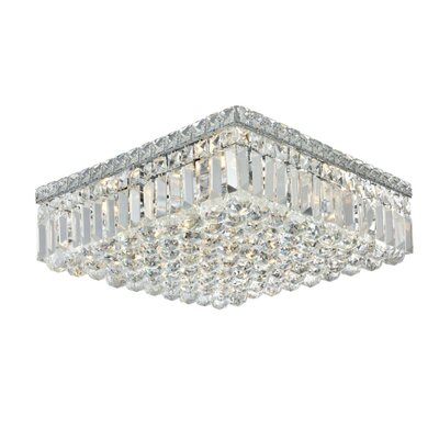 Bratton 6-Light 16 Flush Mount Crystal Grade: Spectra Swarovski