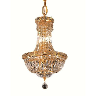 Tranquil 6-Light Empire Chandelier Finish: Gold, Crystal Trim: Chrome / Royal Cut