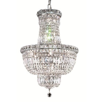 Tranquil 12-Light Crystal Pendant Finish: Chrome, Crystal Trim: Chrome / Elegant Cut