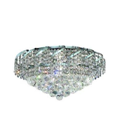 Belenus 8-Light Flush Mount Finish: Chrome, Crystal Grade: Elegant Cut